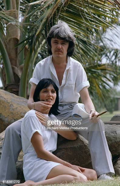 French musician Cerrone known for his work with both creating and producing in the Disco genre sits with his wife Florence in Dakar Senegal