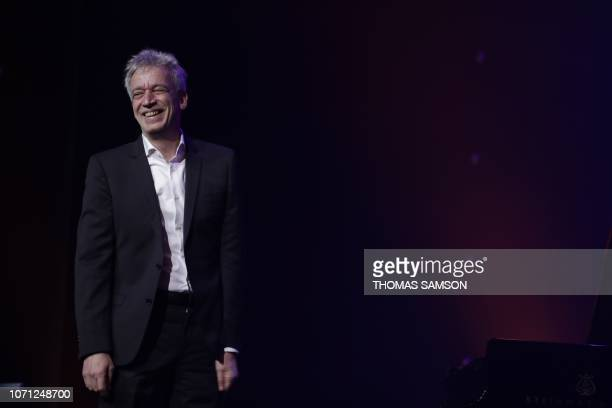 French musician Laurent de Wilde talks after receiving the Jazz award during the SACEM Grand Prix awards ceremony on December 10 2018 at the Salle...