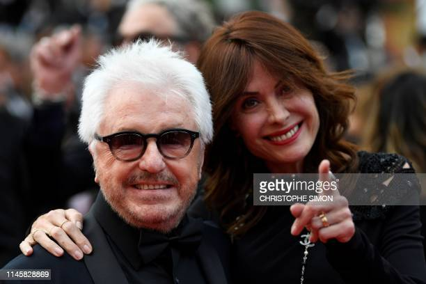 French musician Marc Cerrone and his wife Jill arrive for the screening of the film Sibyl at the 72nd edition of the Cannes Film Festival in Cannes...