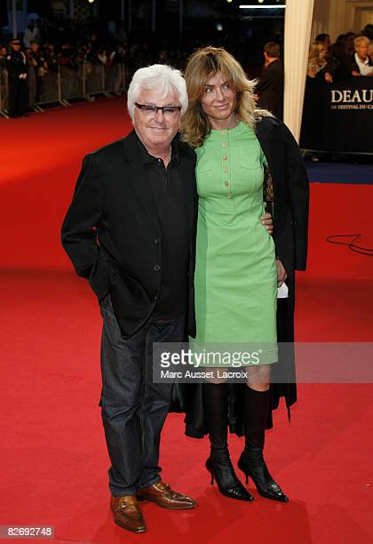 French musician Marc Cerrone with his wife Jill Cerrone attend the Hell Boy II The Golden Army premiere at the 34th Deauville Film Festival on...