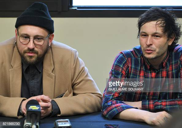 french musicians guillaume briere and benjamin lebeau of french band nachrichtenfoto getty. Black Bedroom Furniture Sets. Home Design Ideas