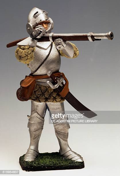 French musketman in armour toy soldier in armour France second half 15th century