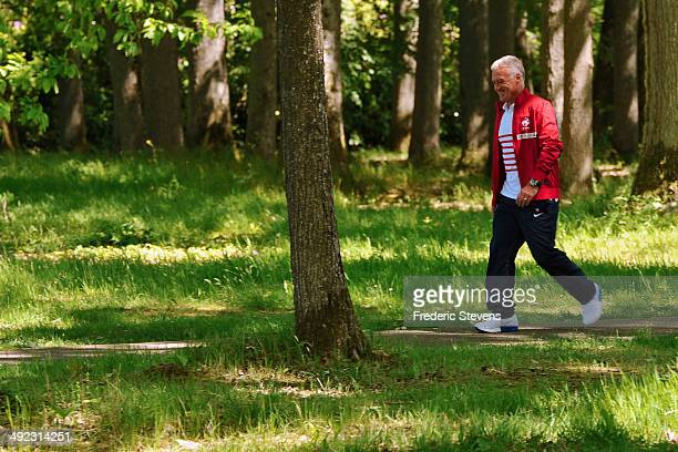 Clairefontaine en Yvelines FRANCE MAY 19 French national football team coach Didier Deschamps is seen at the french national football team centre on...