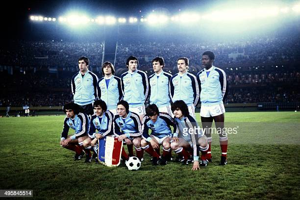 French national football team pose before the 1978 World Cup football match between France and Argentina on June 6 1978 Foreground from left...