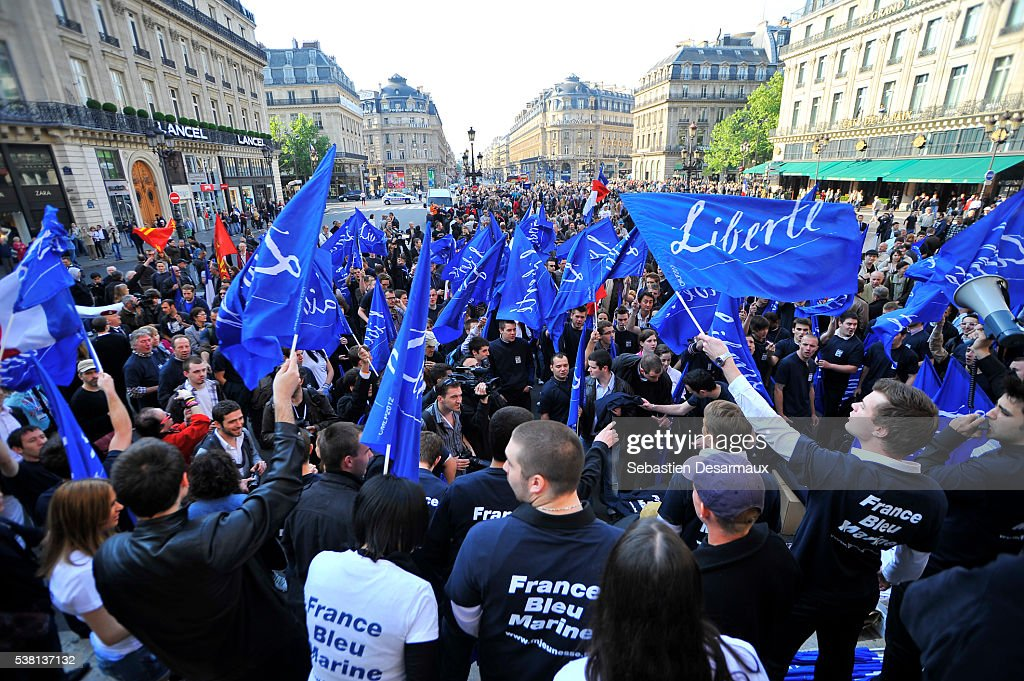 French National Front gathering : Stock Photo