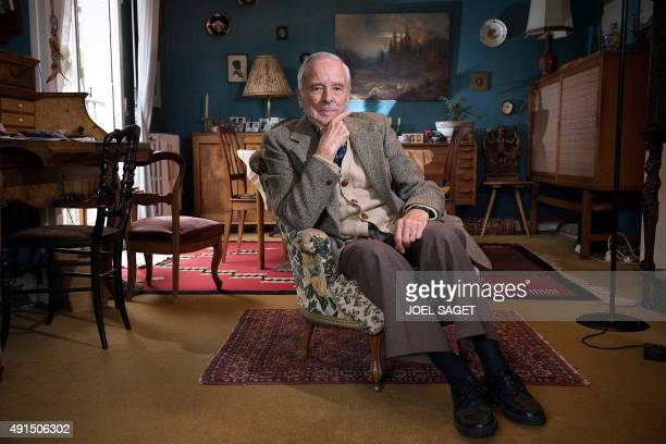 French national Henri Chazel poses in his home on October 5 2015 in Saintcloud suburban Paris Chazel was one of the first student of the Ecole...