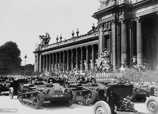 French National Holiday Artillery Parade In Front Of Grand Palais At Avenue Alexandre Iii In Paris On July 14Th 1936