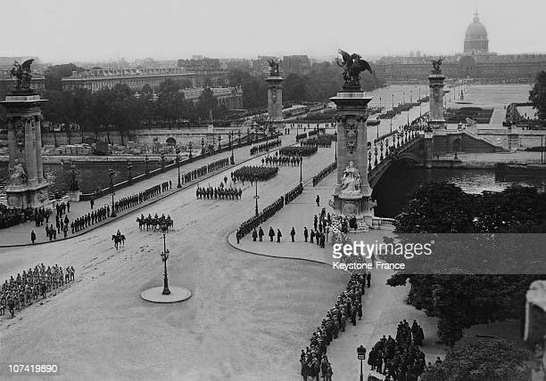 French National Holiday Military Parade At Pont Alexandre Iii In Paris On July 14Th 1933