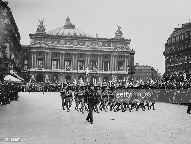 French National Holiday Military Parade Before Garnier Opera On July 14Th 1931