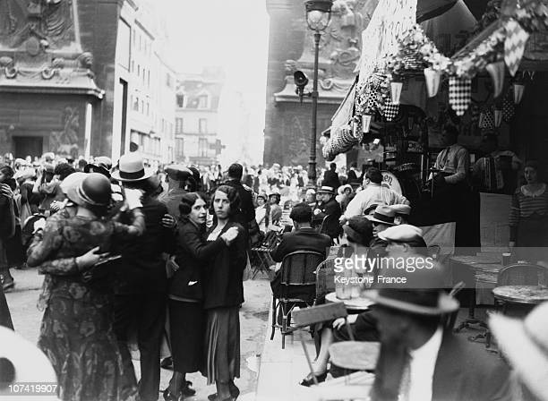 French National Holiday Popular Bal In Paris On July 14Th 1930