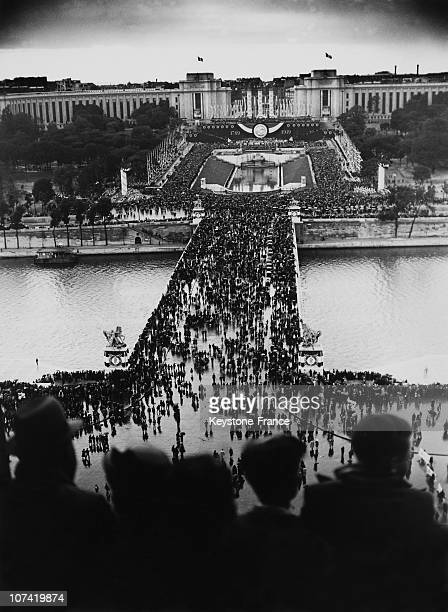 French National Holiday President Lebrun Speaking To The Crowd In Paris On July 14Th 1939