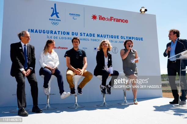 French National Olympic Committee President Denis Masseglia President of the French Paralympic Committee MarieAmelie Le Fur President of the Paris...