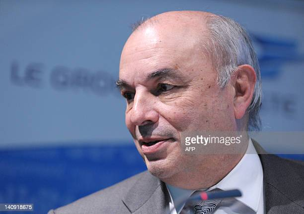 French national postal service La Poste group president Jean-Paul Bailly attends a press conference to present the group's 2011 financial results on...