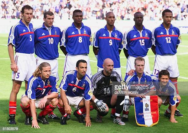 French national soccer team players pose for the official picture before their Euro-2000 group D match against Denmark in Bruges 11 June 2000. EPA...
