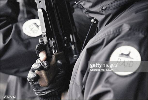French National SWAT team RAID for the security of the world cup In Paris France On January 20 1998 French national SWAT team sharpshooter