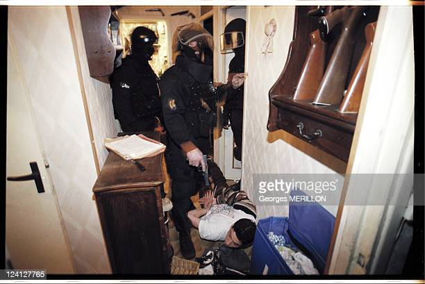 French National SWAT team RAID for the security of the world cup In Beauvais France On January 20 1998 Intervention SWAT team pursues a common law...