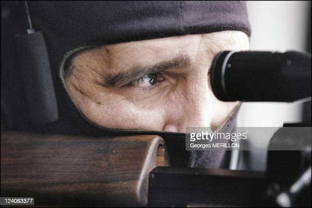 French National SWAT team RAID In Paris France On January 20 1998 French national SWAT team sharpshooter