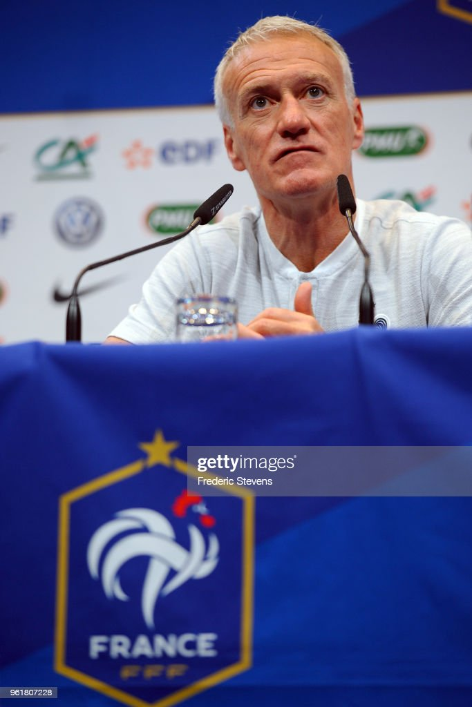Didier Deschamps Announces the French Football Team World Cup Selection
