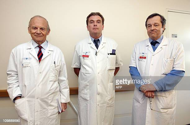 French neurooncologist Alain Carpentier thoracic and vascular surgeon Emmanuel Martinod and head of HematologyOncologyThorax section Dominique...