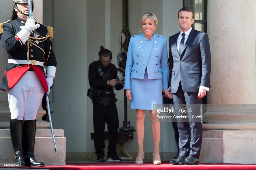 Emmanuel Macron Officially Inaugurated As French President : ニュース写真