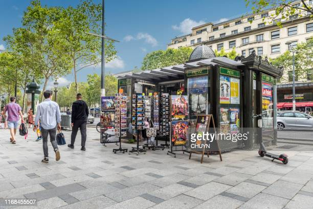 french newstand - news stand stock pictures, royalty-free photos & images
