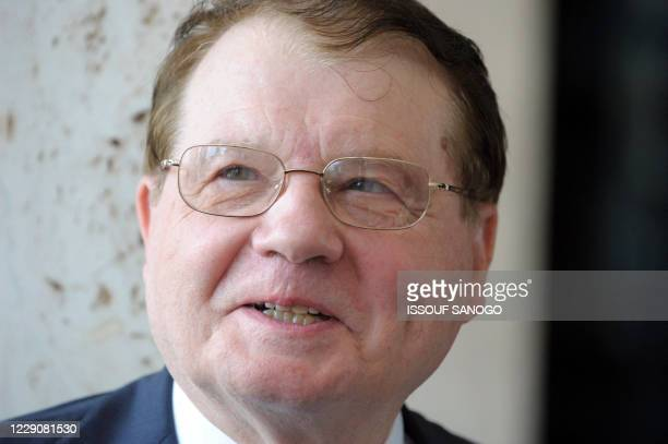 French Nobel Medicine Prize winner Luc Montagnier is pictured on October 6, 2008 at the presidential palace in Abidjan. Montagnier dedicated his...