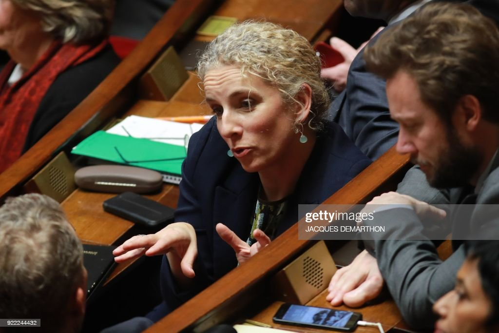 French Nouvelle Gauche Member of Parliament Delphine Batho (C) speaks during a session of questions to the government at the National Assembly in Paris on February 21, 2018. /