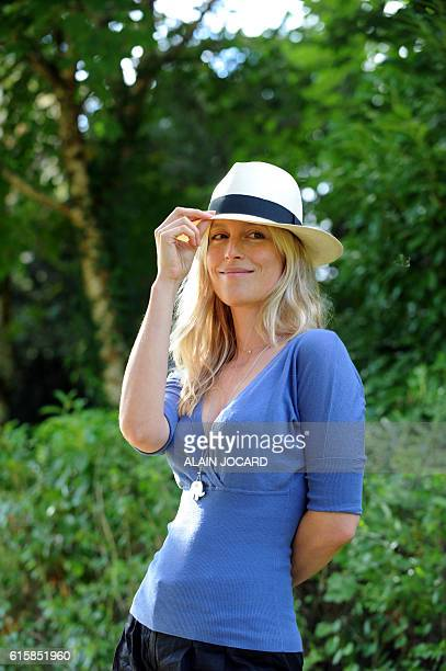 French novelist Adelaide de ClermontTonnerre poses on August 29 2010 in the French central city of ChanceauxpresLoches during the 15th edition of the...