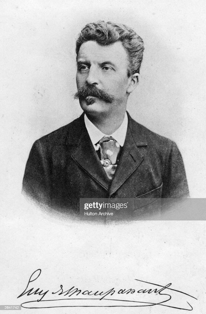 French novelist Guy de Maupassant, (1850 - 1893).