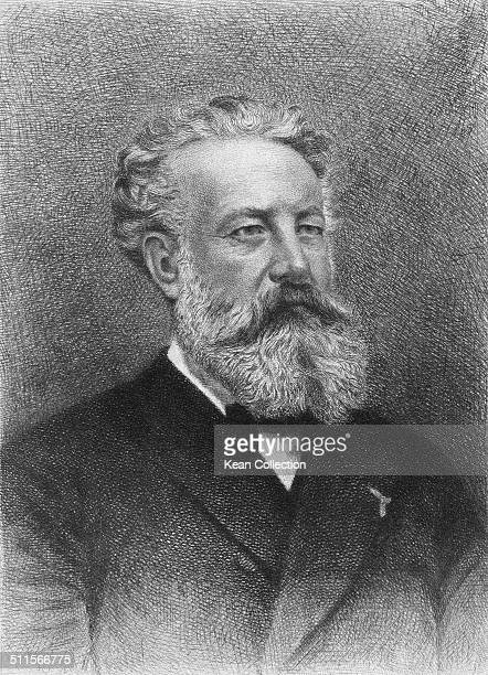 French novelist poet and playwright Jules Verne circa 1875