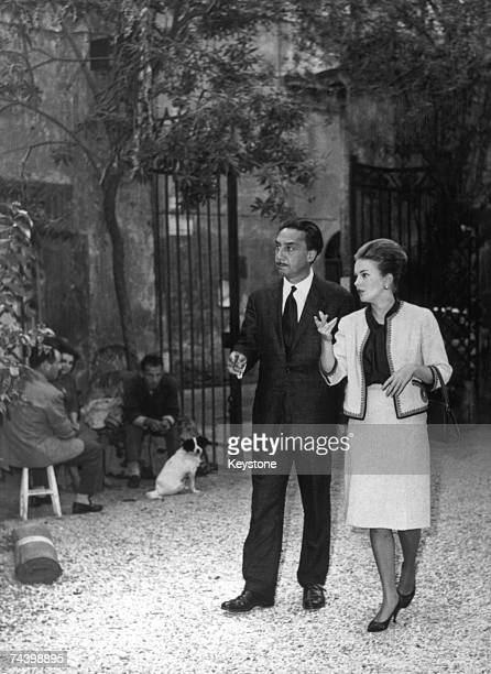 French novelist screenwriter film director and diplomat Romain Gary in Rome with his fiancee American actress Jean Seberg 21st October 1961