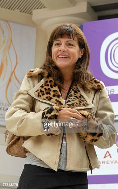 French nuclear group Areva CEO Anne Lauvergeon arrives to attend a plenary luncheon on the last day of the Women's Forum at the Deauville...