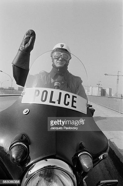 French Officer from National Police on Motorcycle