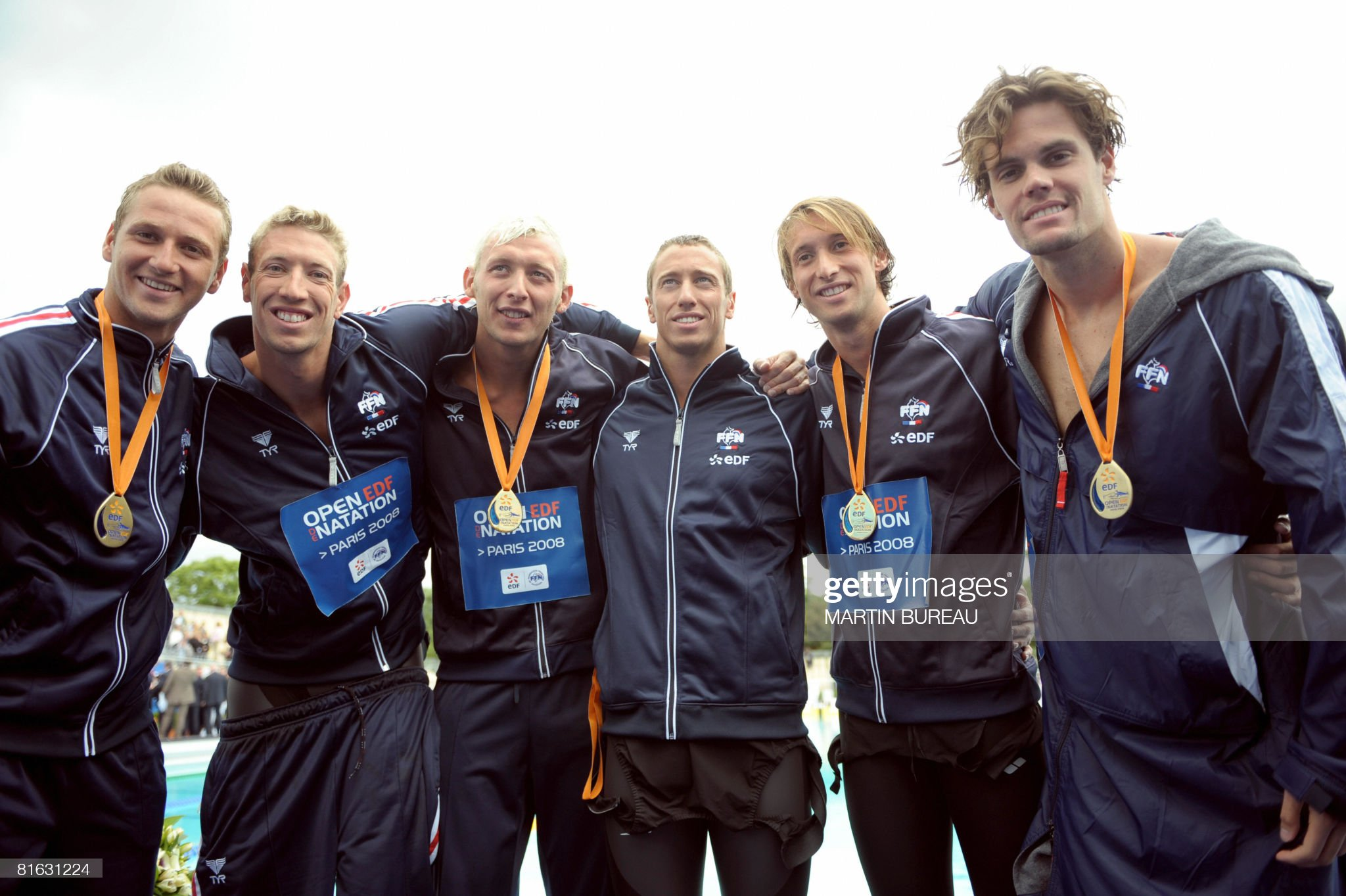 (From L) French Olympic team for the men : Fotografía de noticias