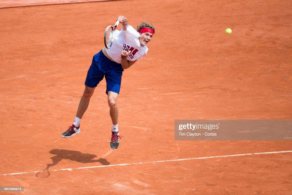 2018 French Open Tennis Tournament. Roland Garros. Paris. France. : News Photo