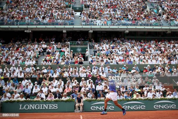 French Open Tennis Tournament Day Fifteen Rafael Nadal of Spain in action against Stan Wawrinka of Switzerland in the Men's Singles Final match on...