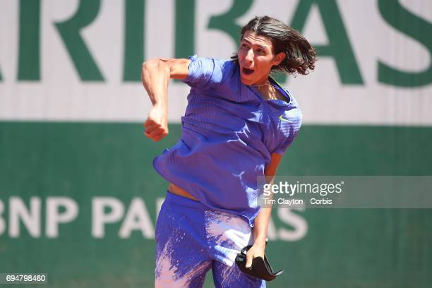 French Open Tennis Tournament Day Fourteen Alexei Popyrin of Australian celebrates after defeating Nicola Kuhn of Spain to win the Boy's Singles...