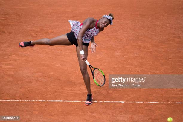 French Open Tennis Tournament Day One Venus Williams of the United States in action during her loss to Wang Qiang of China on Court SuzanneLenglen in...