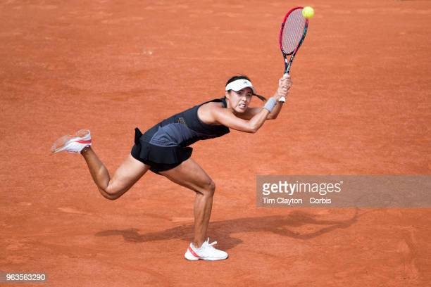 French Open Tennis Tournament Day One Wang Qiang of China in action during her victory over Venus Williams of the United States on Court...