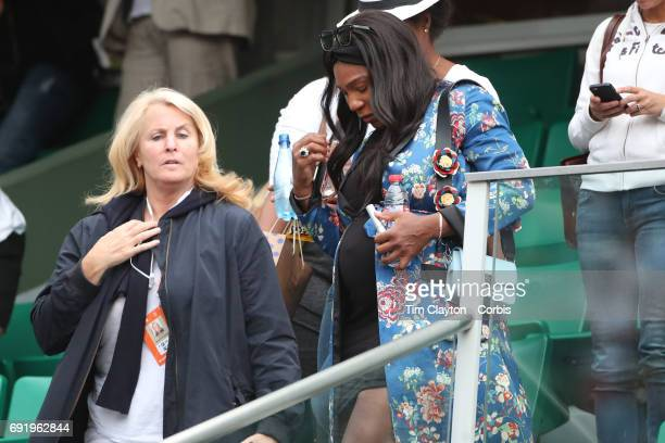 French Open Tennis Tournament Day Six Serena Williams leaves the stadium after watching her sister Venus Williams of the United States winning...