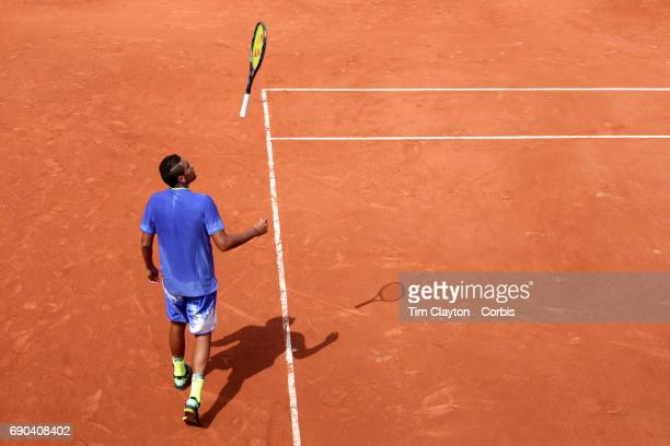 French Open Tennis Tournament Day Three Nick Kyrgios of Australia in action against Philipp Kohlschreiber of Germany on court two during the Men's...