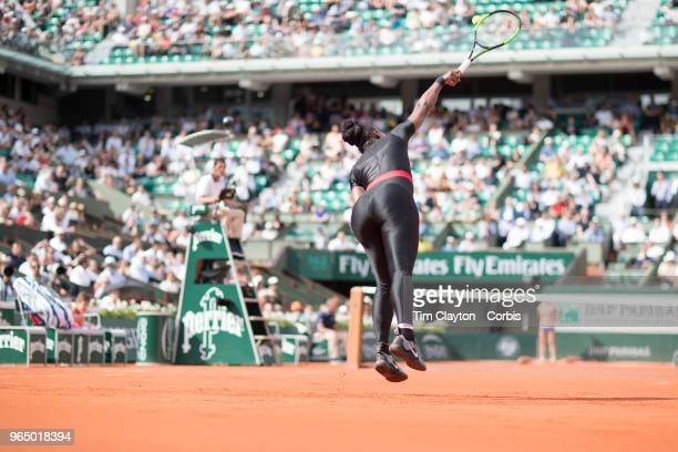 French Open Tennis Tournament Day Three Serena Williams of the United States in action against Kristyna Pliskova of the Czech Republic on Court...
