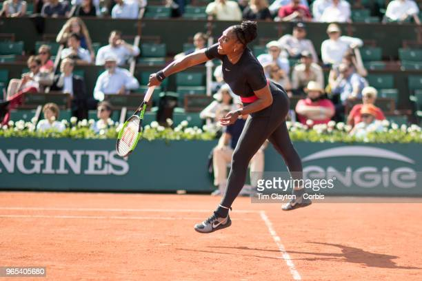 PARIS FRANCE French Open Tennis Tournament Day Three Serena Williams of the United States in action against Kristyna Pliskova of the Czech Republic...