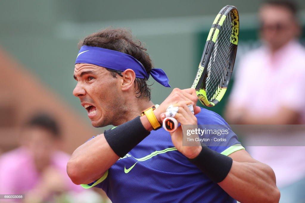 2017 French Open Tennis Tournament. Roland Garros. Paris. France. : ニュース写真
