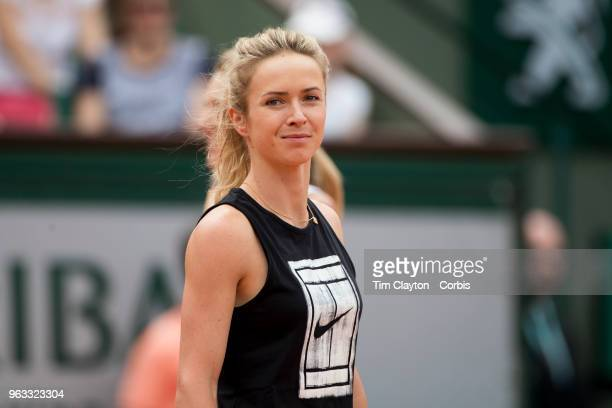 French Open Tennis Tournament Elina Svitolina of the Ukraine during a packed Children's Day at Roland Garros before the start of the 2018 French Open...