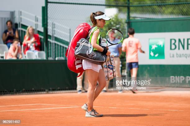 French Open Tennis Tournament Nicole Gibbs of the United States after her loss to Veronika Kudermetova of Russia during the 2017 French Open Tennis...