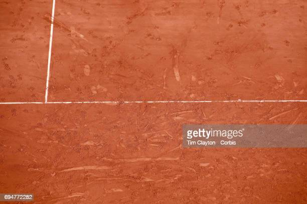 French Open Tennis Tournament The clay court canvas of Roland Garros The clay courts of Roland Garros provide a blank canvas for random lines and...