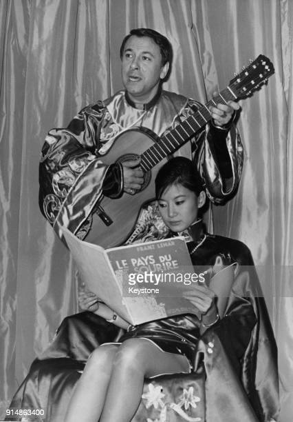 French operatic tenor Henri Legay and Thien Huong during rehearsals for the Franz Lehar operetta 'The Land of Smiles' France 28th November 1960 Thien...