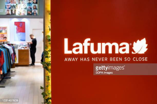French outdoor equipment and clothing brand, Lafuma store seen in Hong Kong.