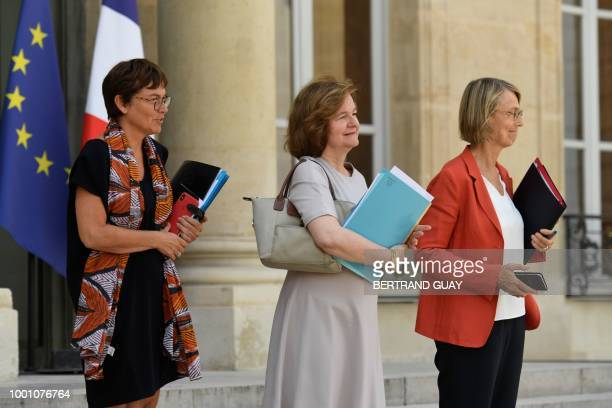 French Overseas Minister Annick Girardin French Minister attached to the Foreign Affairs Minister Nathalie Loiseau and French Culture Minister...